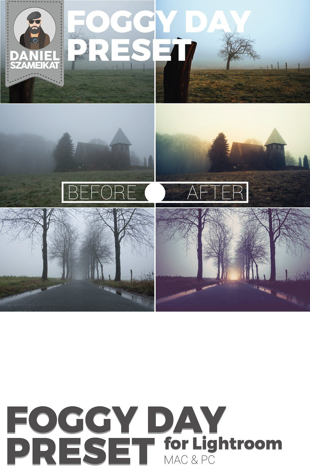 Foggy Day Lightroom Preset #Simply#copy#included#download