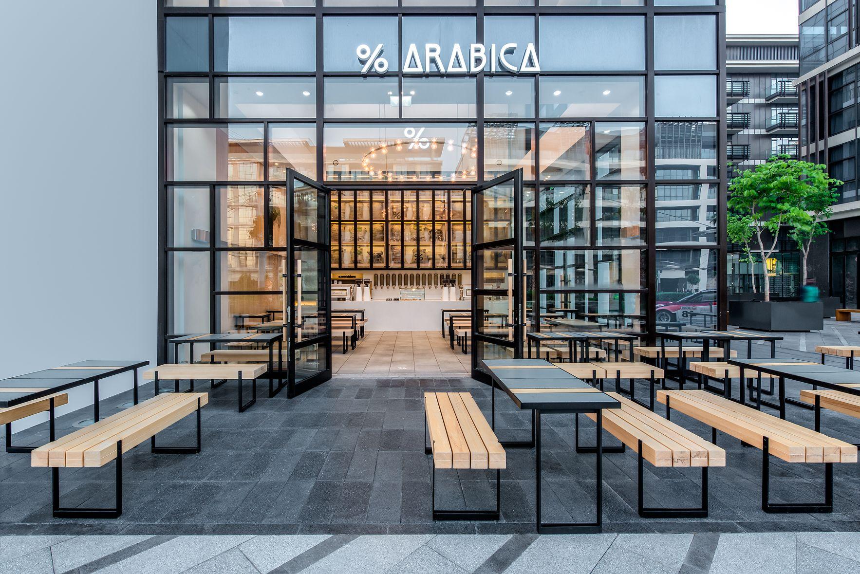 Arabica City Walk Dubai ショップデザイン 建築 店舗デザイン