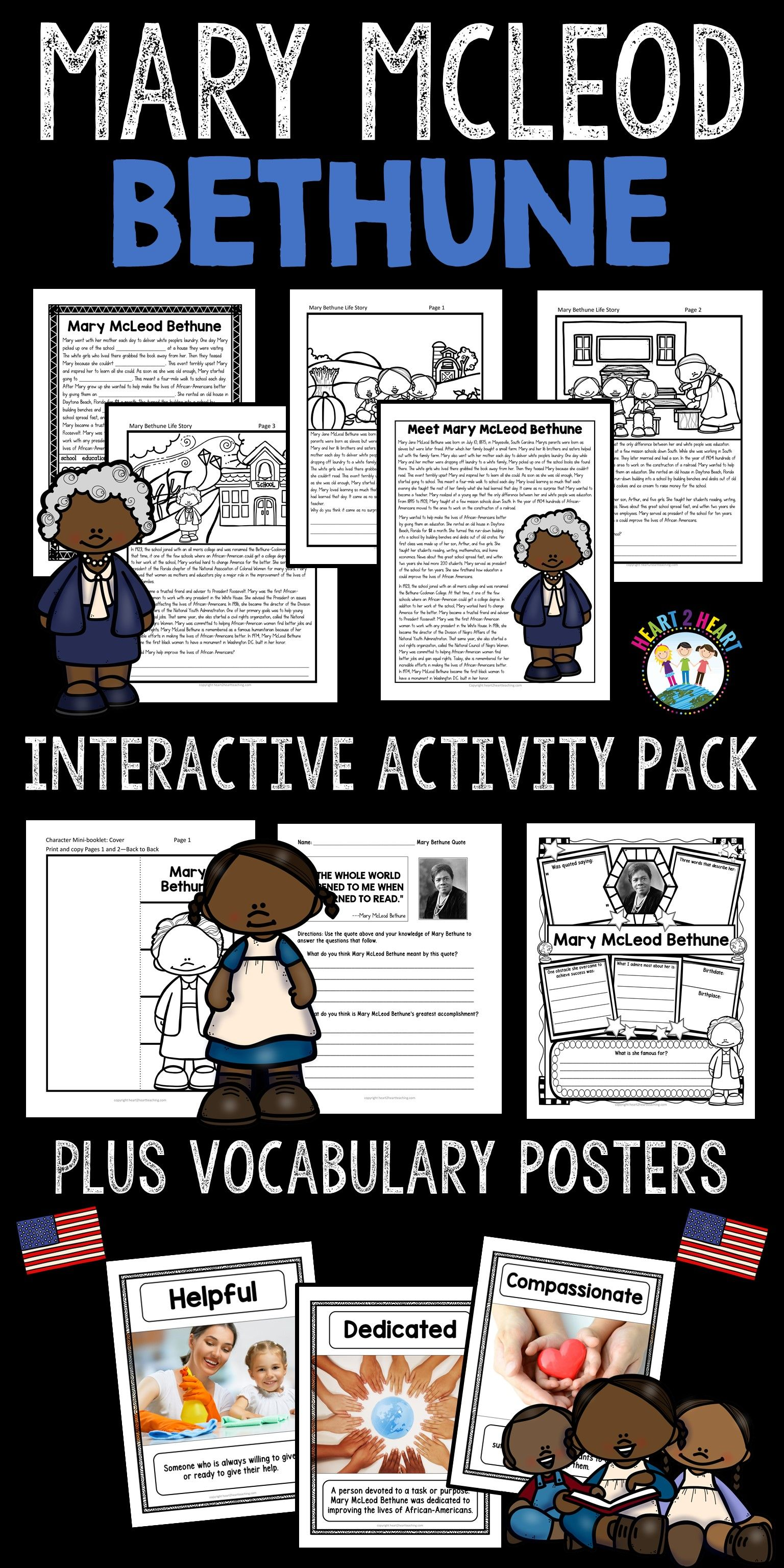 The Life Story Of Mary Mcleod Bethune Activity Pack With