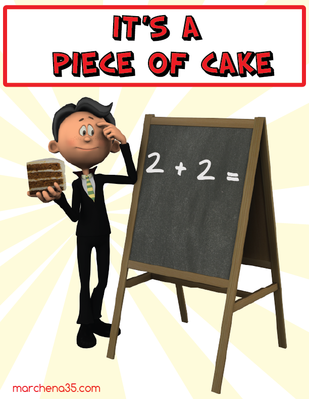 It 39 s a piece of cake food idiom read idioms - Meaning of cuisine in english ...