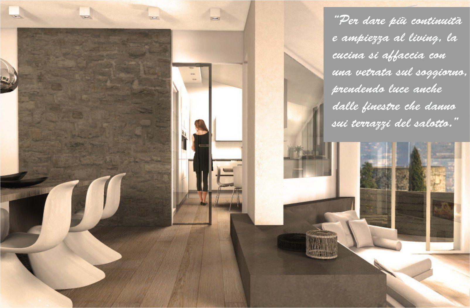 Una mansarda con dislivello progetto in 3d e foto della for Progetto 3d casa