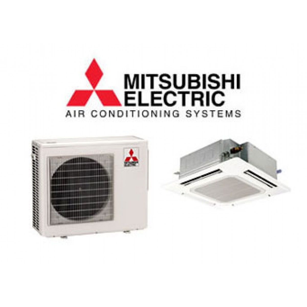 Mitsubishi 15,000/15,600 BTU Heat Pump W/Ceiling Recessed