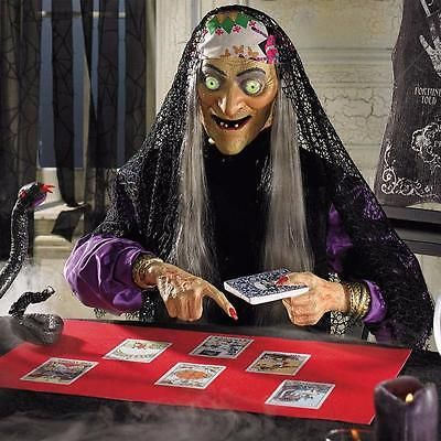 Animated Lifesize Talking Tarot Card Reader Fortune Teller Indoor Halloween Prop : fortune teller decorating ideas - www.pureclipart.com