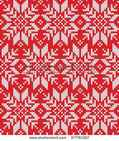 Snowflake Seamless Knitting Pattern Double Knit And Fair Isle