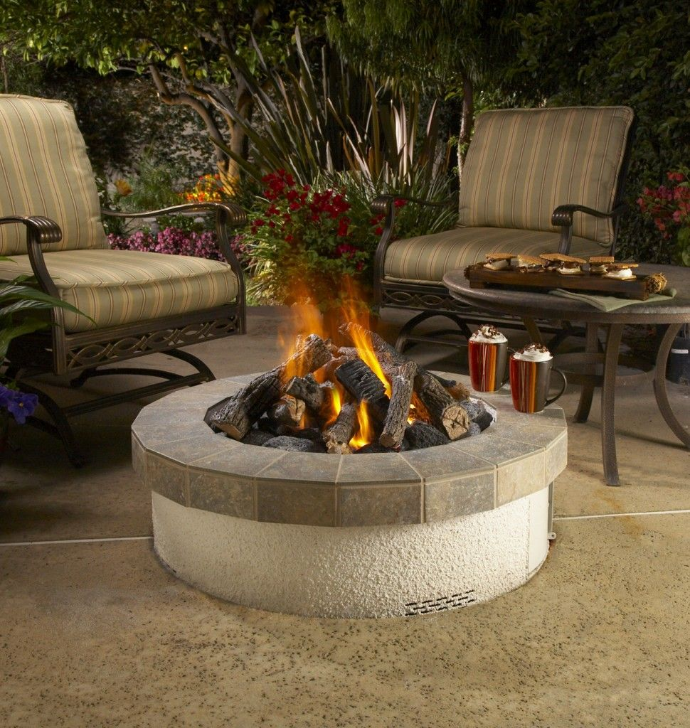 Outdoor fire pit for details and additional information on