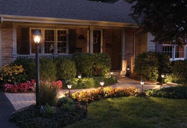 Yard lighting on pinterest for Small front yard ideas
