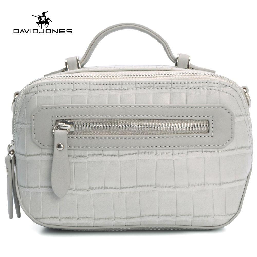 1c2f0a442903 DAVIDJONES women handbag PU bag BAG female classic serpentine prints shoulder  bags ladies handbags messenger bag