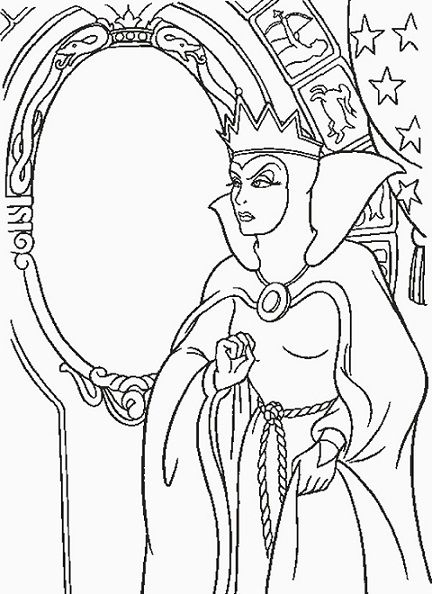 Disney Villain Coloring Pages Witch Coloring Pages Snow White Coloring Pages Disney Coloring Pages