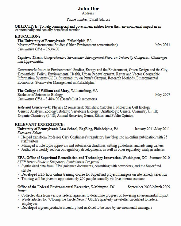 Grad School Resume Example Fresh Graduate Student Resume Student Resume Template Resume For Graduate School Resume Examples