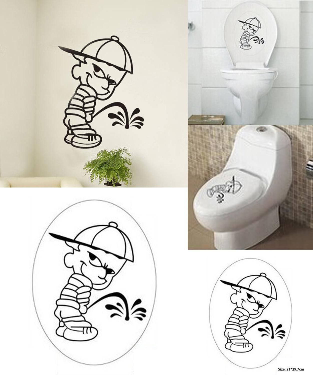 Visit to buy funny bad boy middle finger pee piss on anti vinyl decal