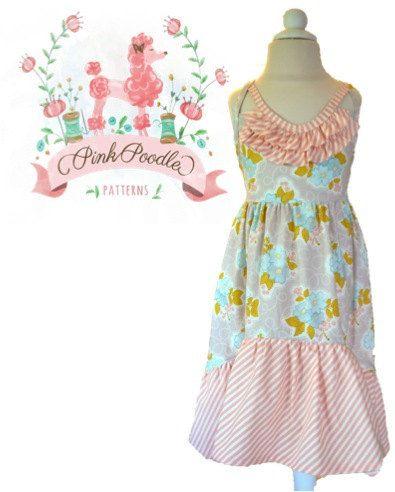 Girls Dress Pattern PDF Sewing Patterns Girls von pinkpoodlebows ...