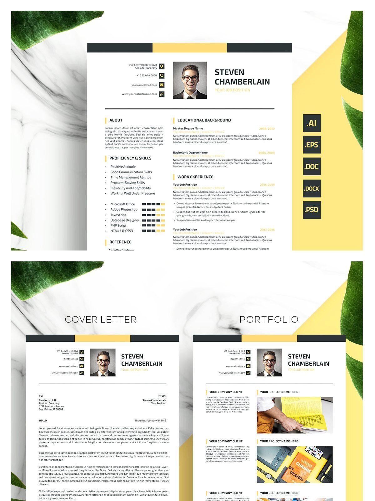 Pin on Modern Resume Templates