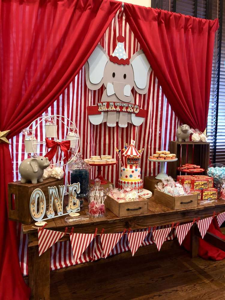 Vintage Circus Birthday Party Ideas in 2019 | Boy Birthday ...