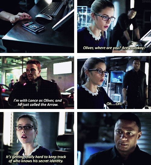 "Arrow - 2x17 Birds of Prey - ""It's getting really hard to ..."
