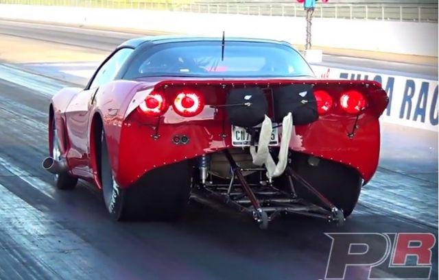 Twin Turbo C6 Corvette Hits The Drags Twin Turbo Corvette Turbo