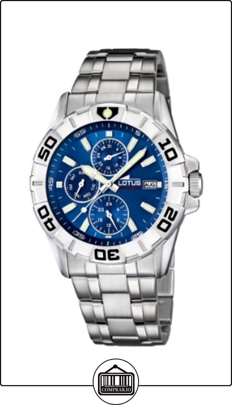 cd4141f69083 Lotus 15812 2 - Reloj analógico de cuarzo para hombre con correa de acero  inoxidable