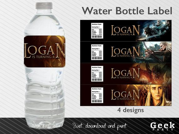The Hobbit Water Bottle Label Printable Legolas by ...