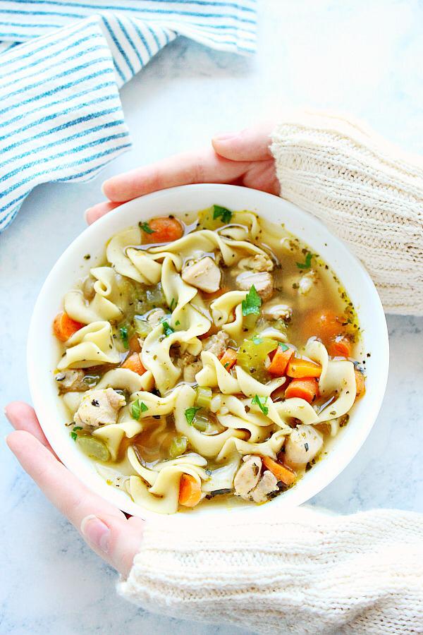 Instant Pot Chicken Noodle Soup Crunchy Creamy Sweet