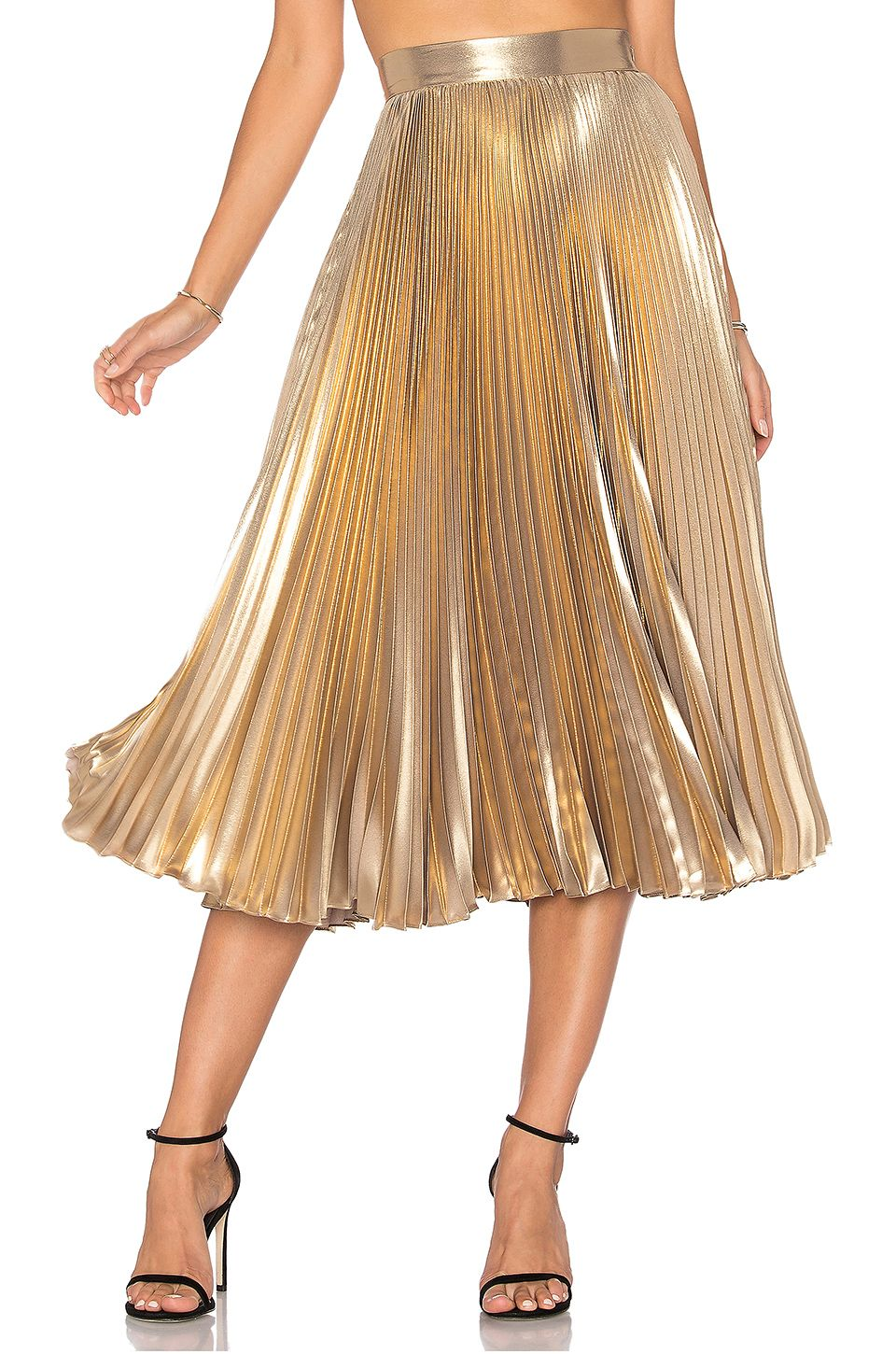 843c1d80f0 Frankie Pleated Skirt in Light Gold | dresses & skirts | Pleated ...