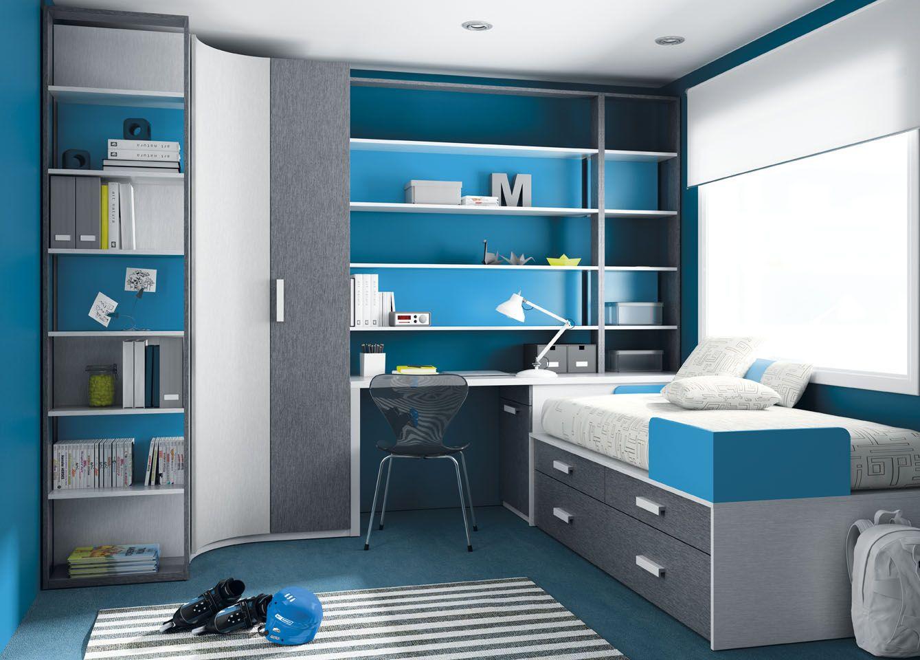 Espacio joven para habitaciones jóvenes. Ver más en www.ros1.com ...