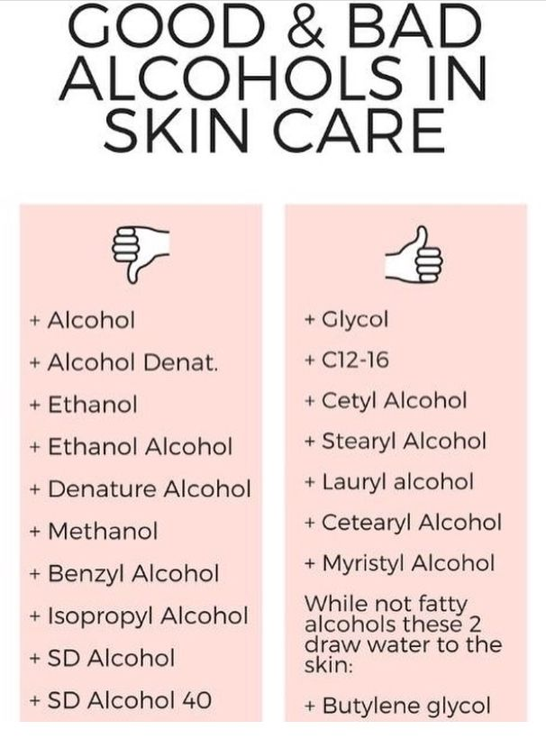 Good And Bad Alcohols In Skincare Aging Skin Care Skin Care Skin Care Advices