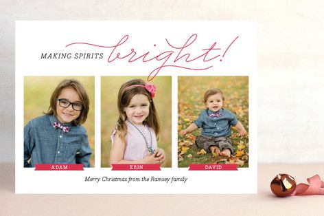 Bright Ribbons Christmas Photo Cards by Ann Gardner at minted.com