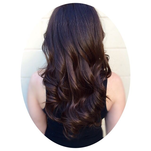 Rich Espresso Brown Hair Color Haircut And Style With Images