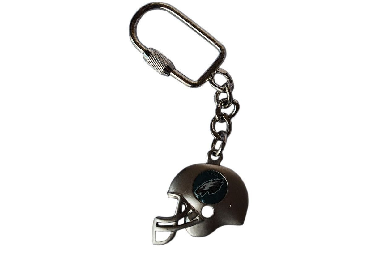 "Philadelphia Eagles Peter David Football Silver Keychain 1"" x 4"""