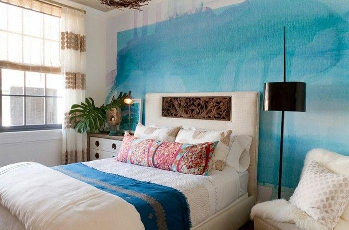 ▷ 1001+ designs stupéfiants pour une chambre turquoise | Bedrooms