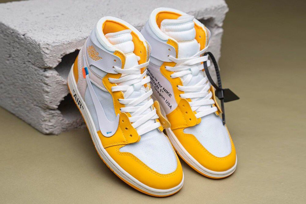 Take A Detailed Look At The Off White X Air Jordan 1 Canary