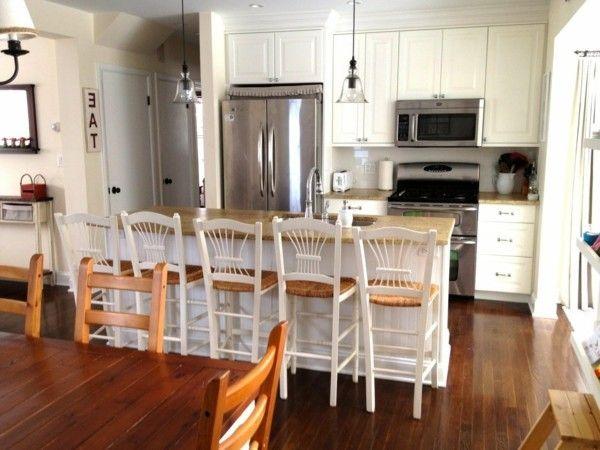 Küche Mit Kochinsel Landhausküche Mit Weißer Kücheninsel