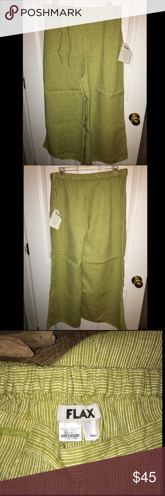 NWT FLAX Linen Gaucho Pants (medium weight) size M NWT FLAX Linen Gaucho Pants (medium weight) size M Flax Pants Wide Leg