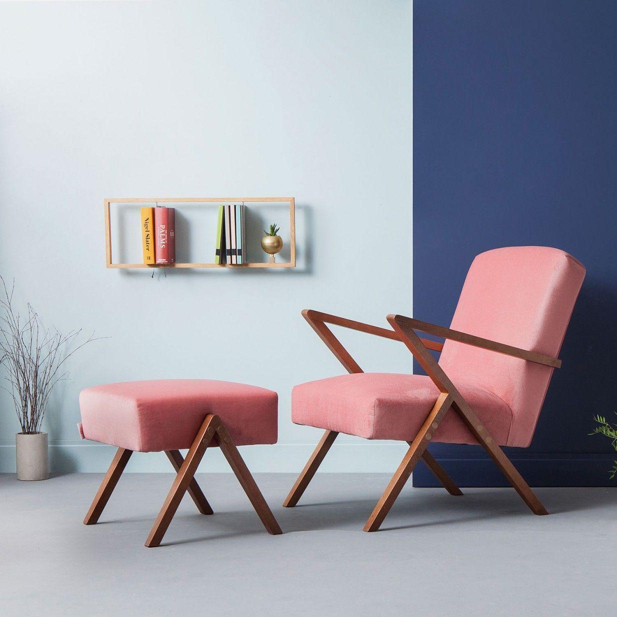 Retrostar Samt Sessel Rosa Sternzeit Design Der Retrostar Lounge