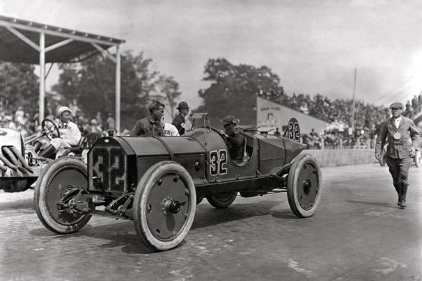 Ray Harroun, the inaugural Indy 500 winner in 1911, in the ...