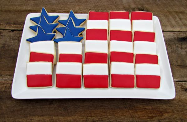 Cookie Platter- red, white and blue
