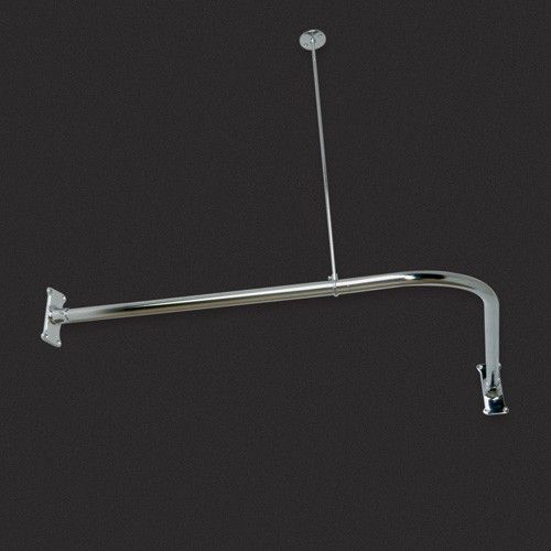 Corner Solid Brass Shower Curtain Rod Small Bathroom Corner