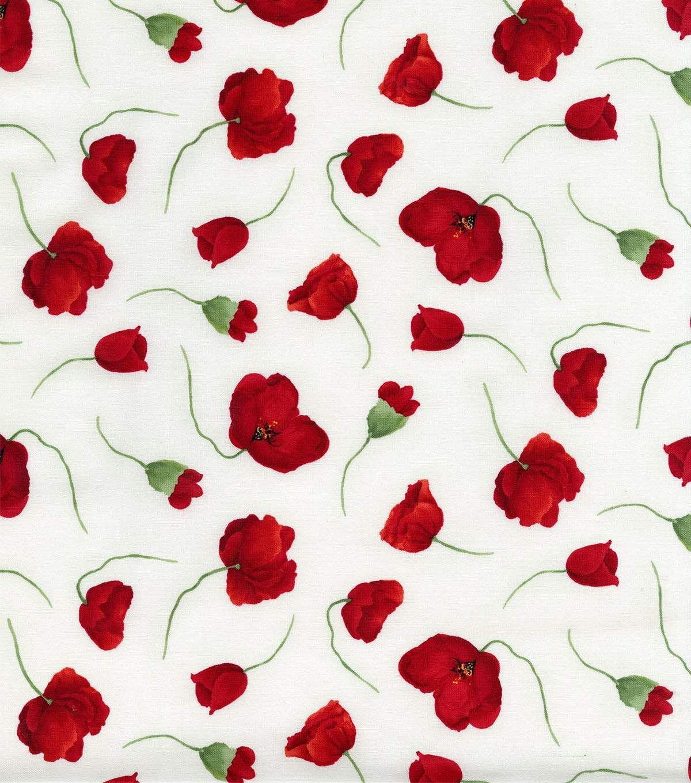 Hi fashion cotton fabrictrailing poppy fabrics