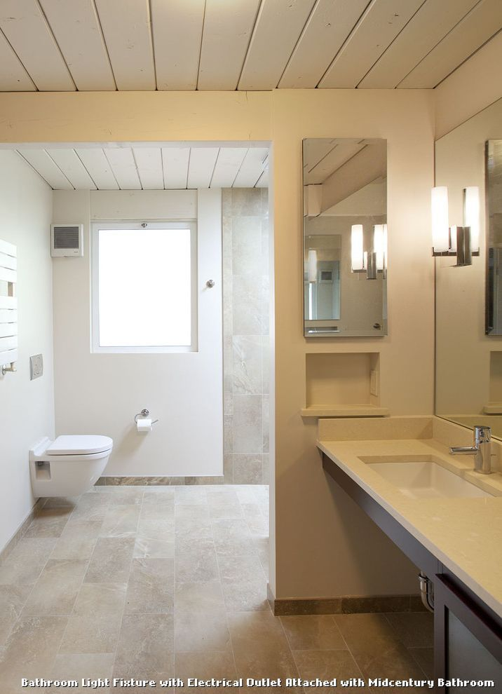 Bathroom Light Fixtures Outlet bathroom light fixture with electrical outlet attached | bathroom
