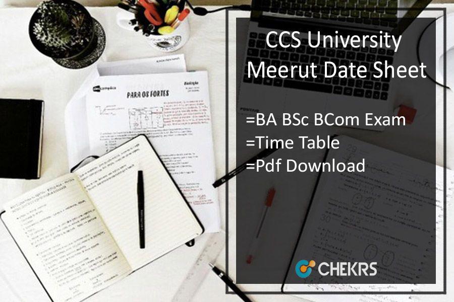 CCS University Meerut Date Sheet 2019!! | chekrs com | Maths