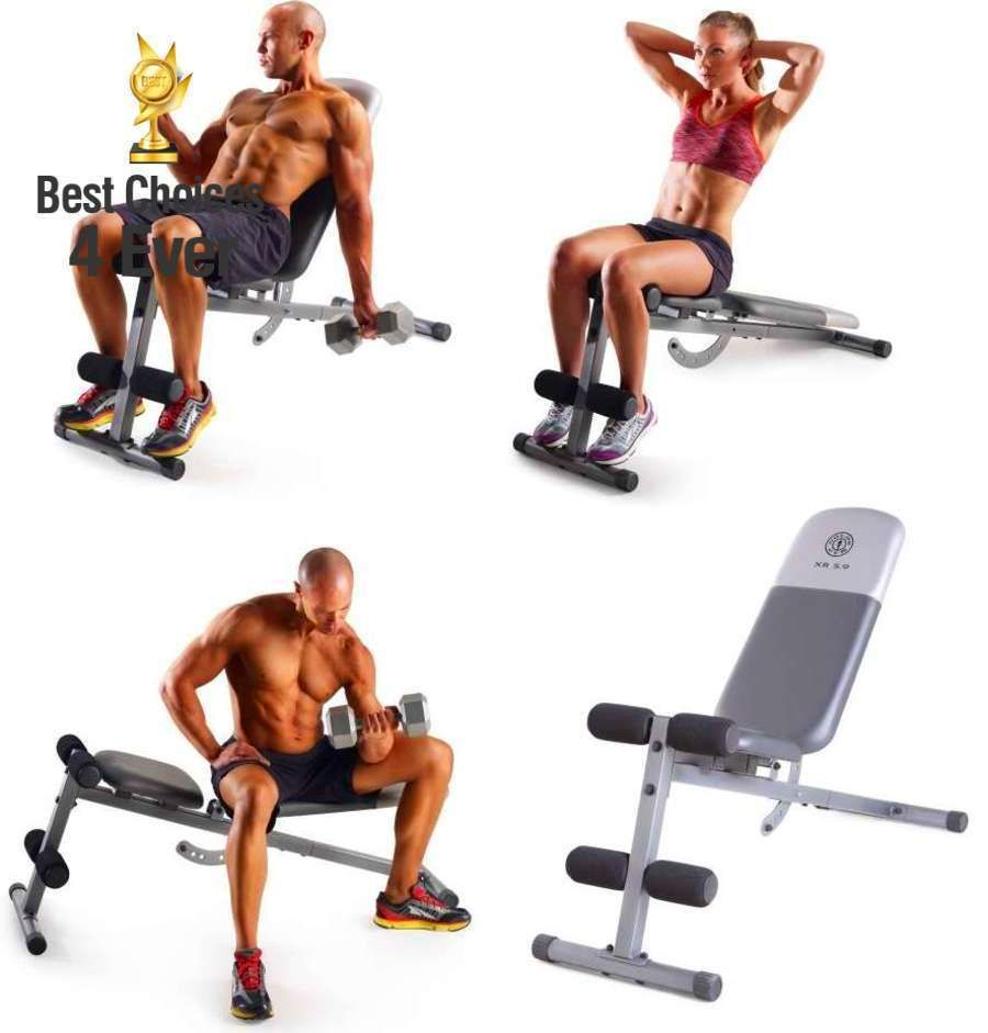 Gold S Gym Xr 5 9 Adjustable Slant Workout Weight Bench Home Training New Golds Gym Weight Benches Gym