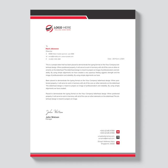 Letterhead Template Design Business Letter Corporate Identity