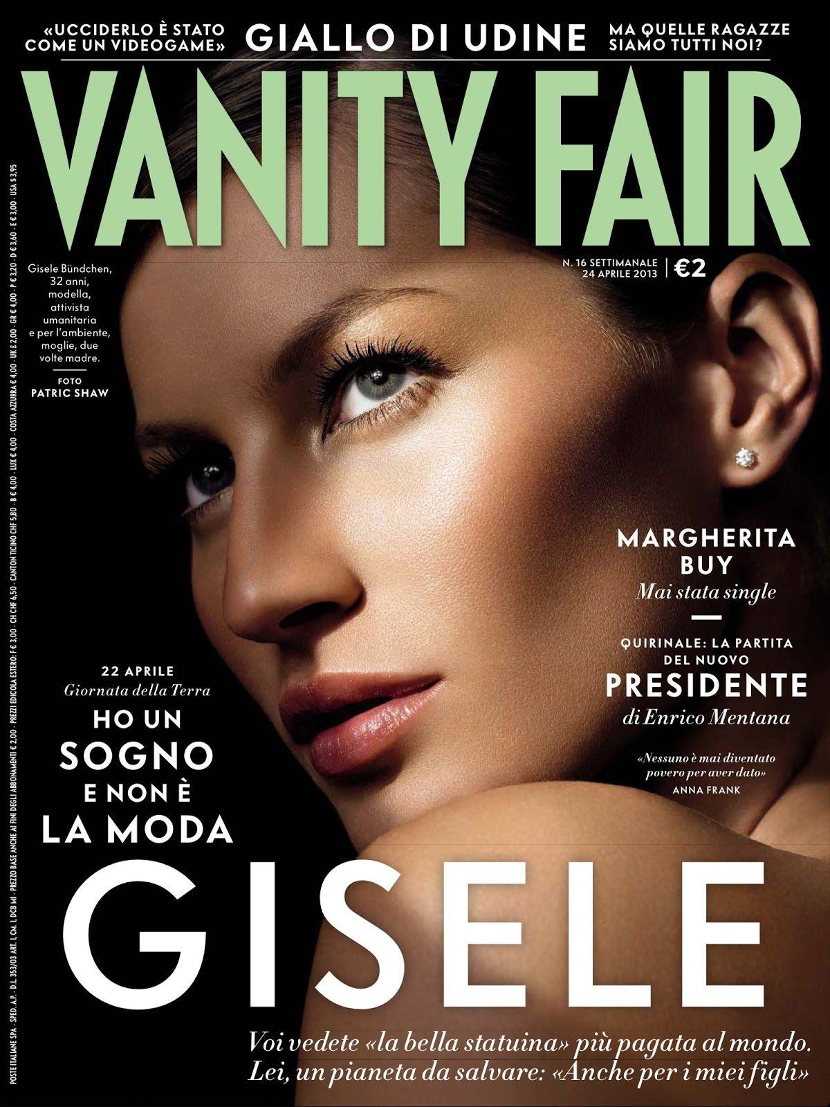 Gisele Bundchen para Vanity Fair Italia, Abril 2013   VANITY ...