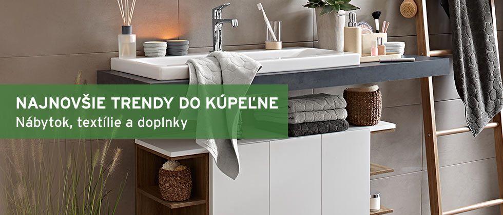 Najnovšie trendy do kúpeľne: Kúpeľňový nábytok, textílie,doplnky