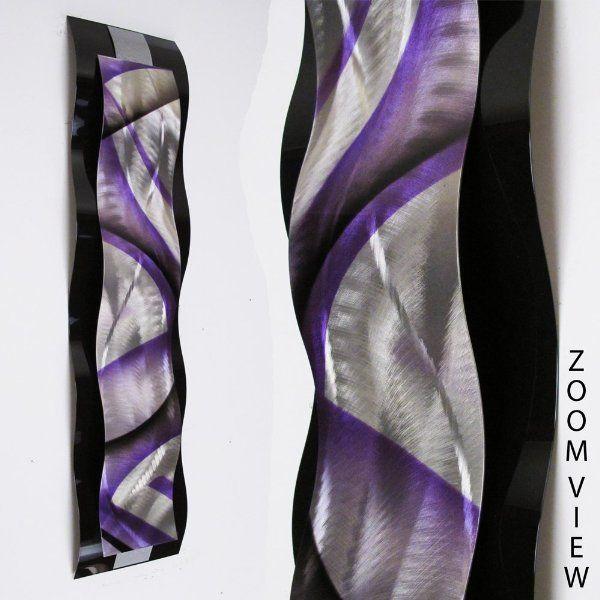 Rhythmic Curves, Silver, Purple Black\