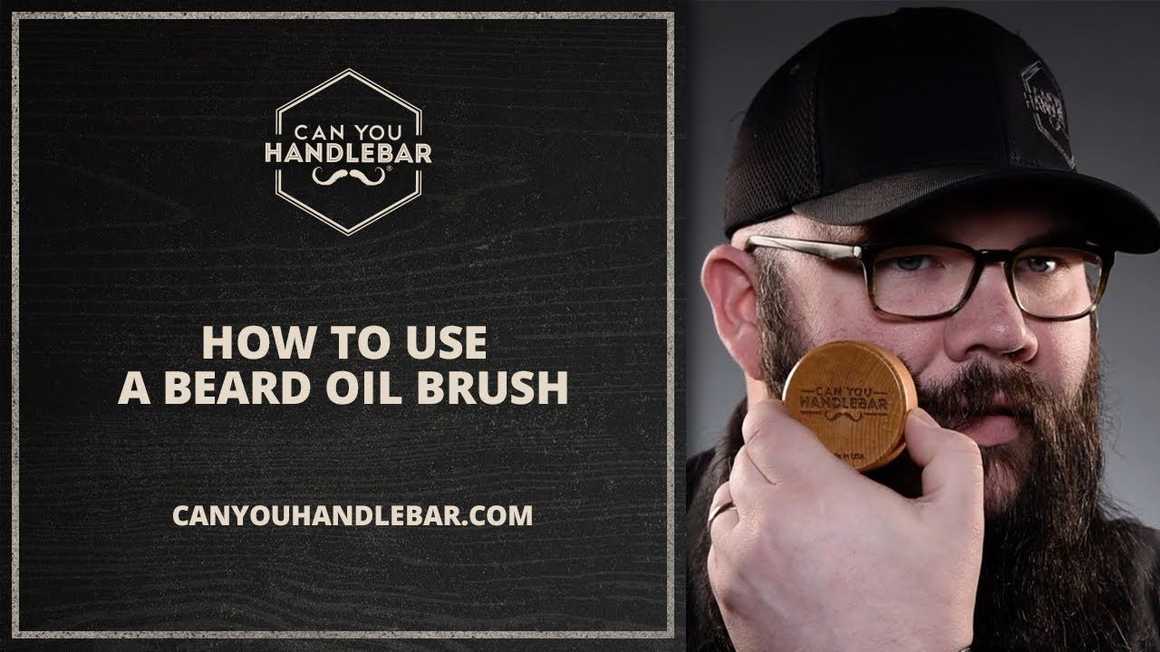 How To Use a Beard Oil Brush A Quick Reference Video by