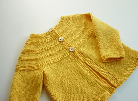 Hand knit baby cardigan baby cardigan Merino wool