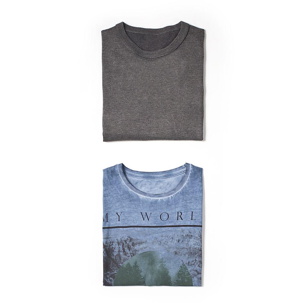 T-shirt stampa vintage e maglioncino girocollo uomo Conbipel. Scopri la collezione #Primavera #Conbipel su www.conbipel.it