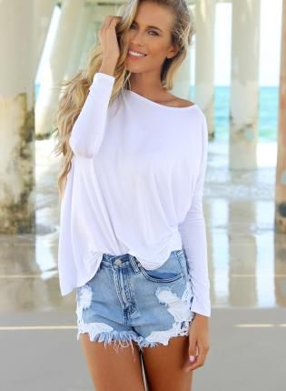love the sloppy shirt....  HotWomensClothes.com