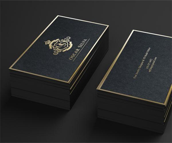 Letterpress 600gsm Business Cards Custom Silver Golden Foil Thick Paper Edge Colour Laser Pr Printing Business Cards Business Card Printer Thick Business Cards