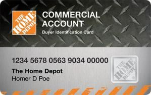 Access Home Depot Commercial Credit Card Account Home Depot